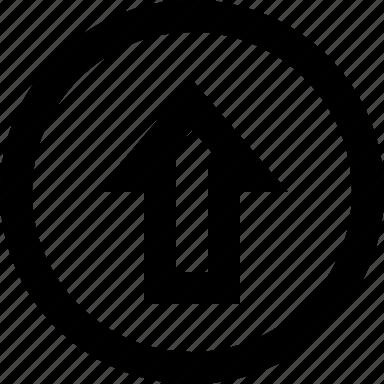 arrow, circle, previous, up icon