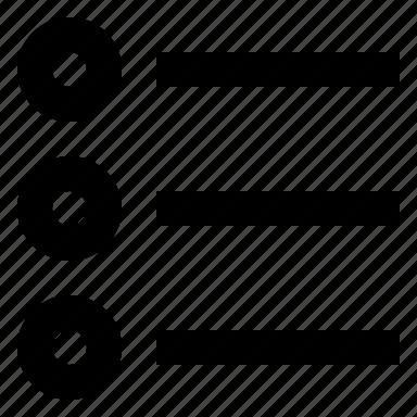 lines, list, radio icon