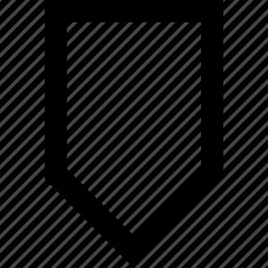 arrow, down, tab icon