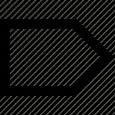arrow, right, tab icon