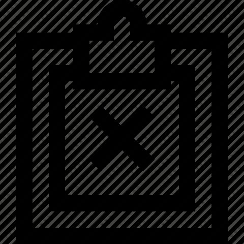 clipboard, close, copy, delete, paste, remove icon
