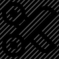 cut, edit, scissors icon