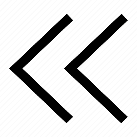 arrows, chevron, double, left icon