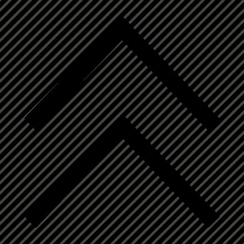 arrows, chevron, double, up icon