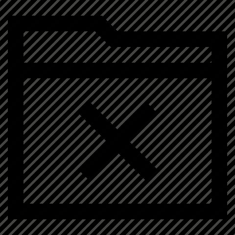 delete, error, folder, remove icon