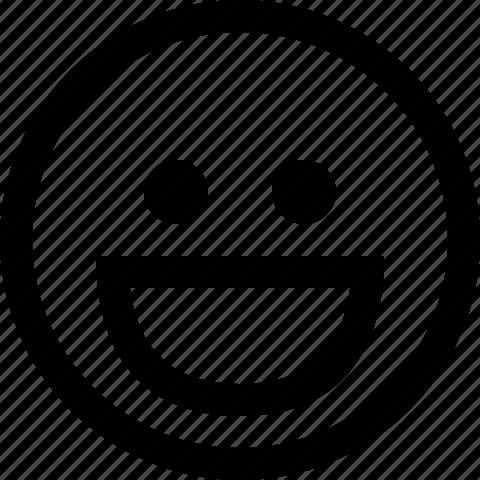 emoticon, face, grin, happy, smile, smiley icon