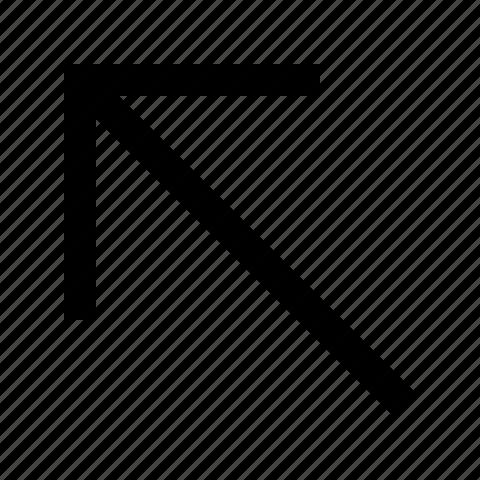 arrow, left, upper icon
