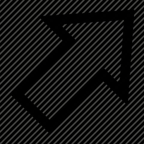 arrow, right, upper icon