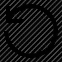 arrow, rotate, undo icon