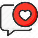 chat, comment, feedback, heart, like, rate, rating