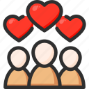 feedback, heart, like, rate, rating, subscribers, team icon
