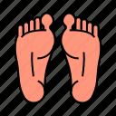 anatomy, body, feet, leg, limb, sole icon