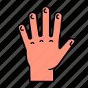 anatomy, body, finger, hand, limb, open icon
