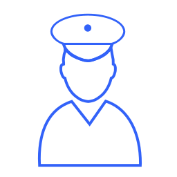 law, officer, police, policemen, protect, secure, security icon