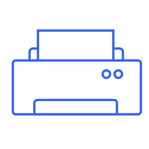 device, machine, office, peripherals, print, printer, typography icon