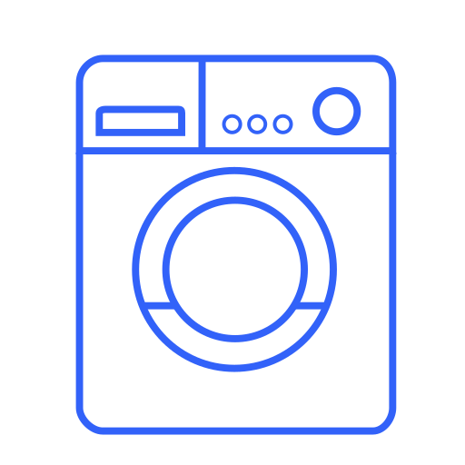 care, clean, device, house, machine, washer, washing icon