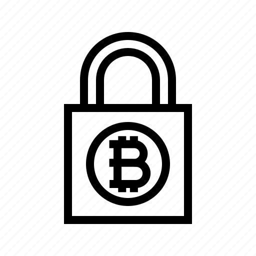 bitcoin, cryptocurrency, encrypted, encryption, lock, padlock, security icon