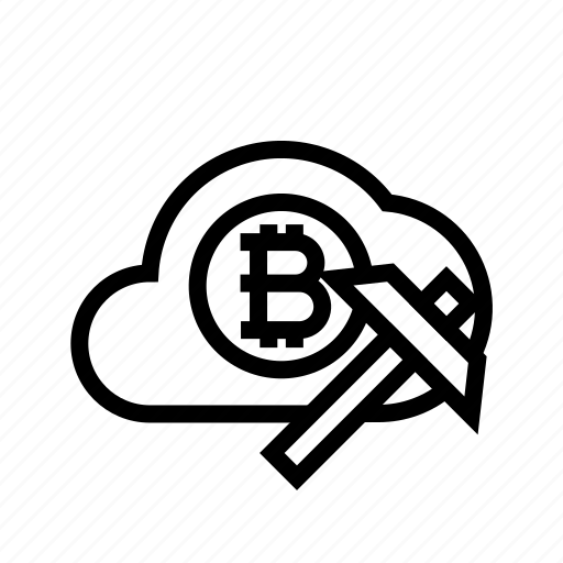 bitcoin, cloud, cloud mining, crypto, cryptocurrency, mining icon