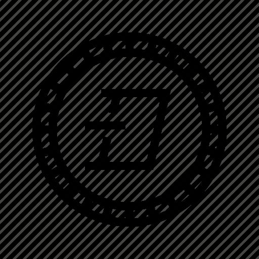altcoin, blockchain, crypto, cryptocurrency, dash, digital, virtual icon