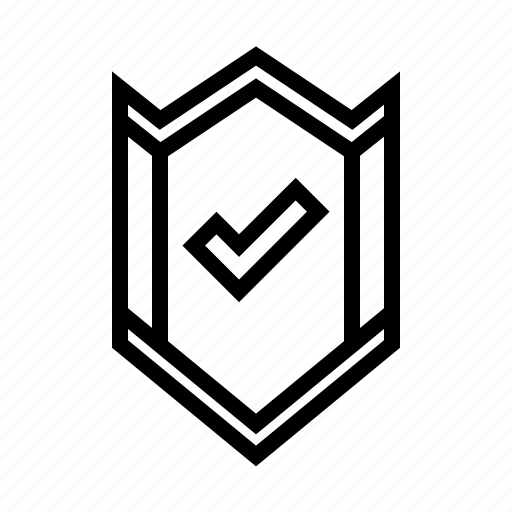 badge, checked, checkmark, encrypted, safe, secured, verified icon