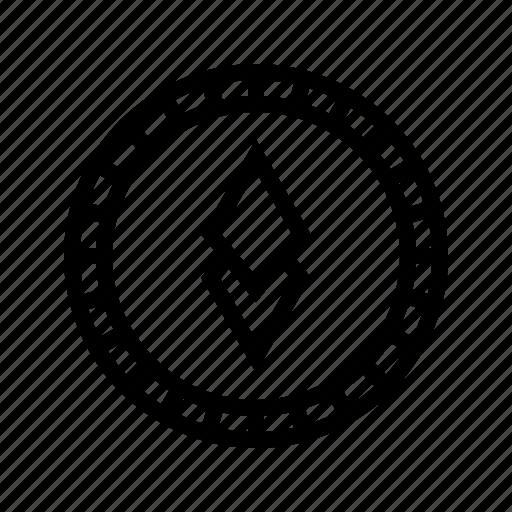 altcoin, blockchain, crypto, cryptocurrency, ethereum, mining, money icon