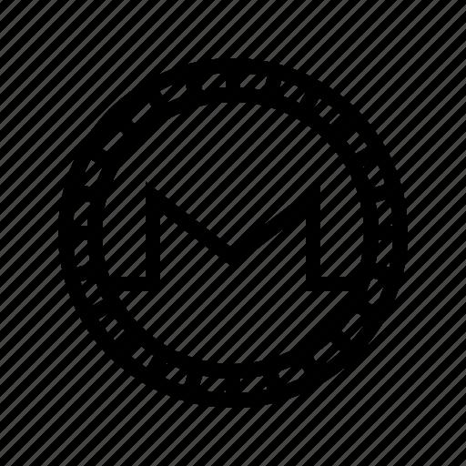 altcoin, crypto, cryptocurrency, monero, money, virtual icon