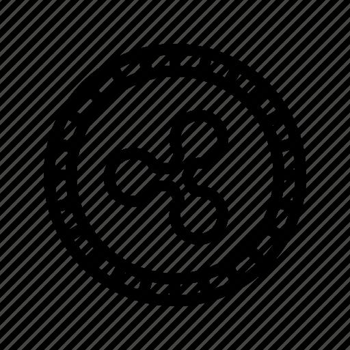 altcoin, crypto, cryptocurrency, money, ripple, virtual icon