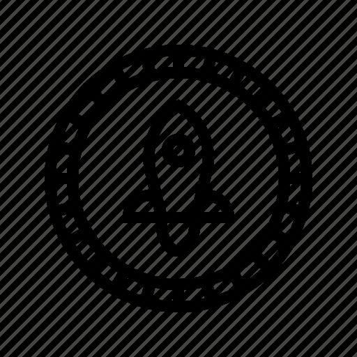 coin, crypto, cryptocurrency, ico, money, rocket, stellar icon