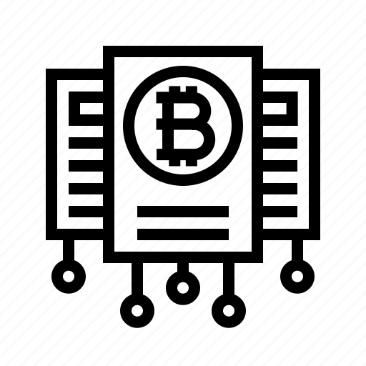 bitcoin, contract, crypto, cryptocurrency, whitepaper icon
