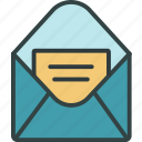 email, mail, message, read, sms icon