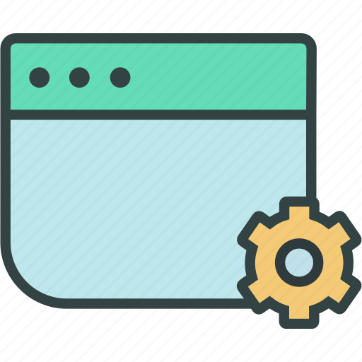 browser, setting, settinngs, web, window icon
