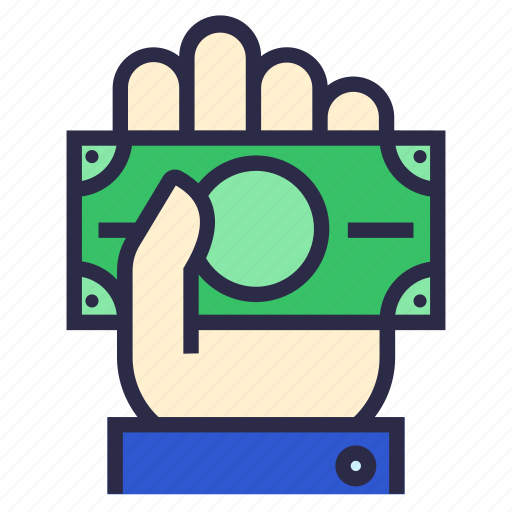 bank, donation, give money, hand, payment icon