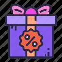 birthday, box, gift, present, sale
