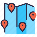 map, map location, navigation, pin, street map icon