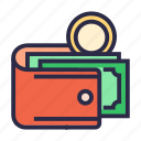cash wallet, coin, money, payment, purse, wallet icon