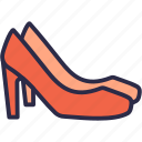 fashion, footwear, high heels, shoes, women shoes icon
