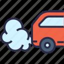 car, car exhaust, diagnostic, emissions, exhaust gas, smog icon