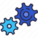 cog, gear, gear wheel, industry, setting icon