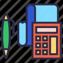 account, bill, pen, purchase calculator, receipt, tax calculator icon
