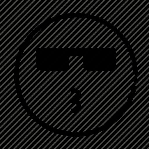 cool, emoji, happy, kiss icon