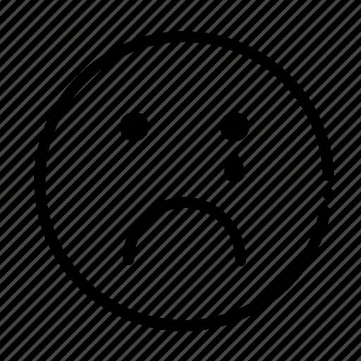 cry, dead, emoji, emotion, sad icon