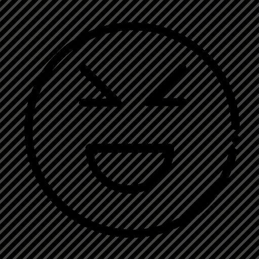 comedy, happy, smile icon