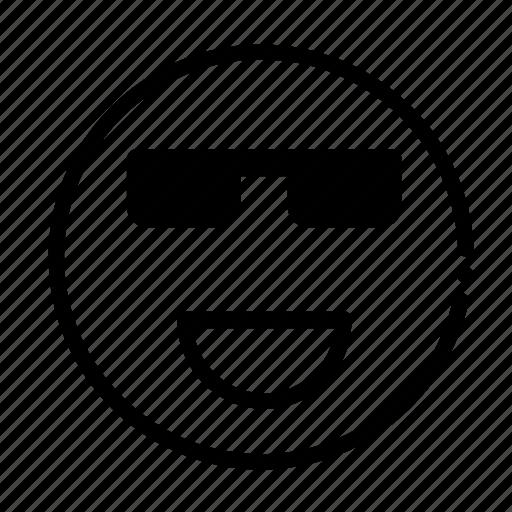 cool, happy, smile, super icon