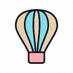 balloon, celebration, gift, holiday, present, transportation, travel icon