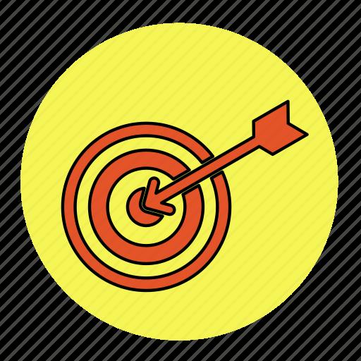 arrow, bodybuilding, fitness, health, line, pan, target icon