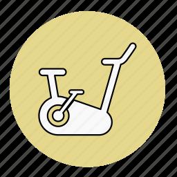 bike, bodybuilding, fitness, health, line, machine, sport icon