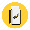 bodybuilding, drink, fitness, health, healthy, line, milk icon