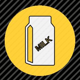 bodybuilding, drink, fitness, health, healthy, line, milk icon