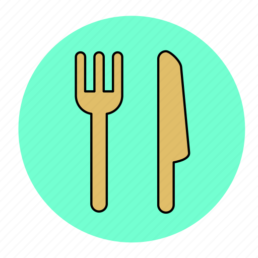 bodybuilding, eat, fitness, health, knife, line, spoon icon