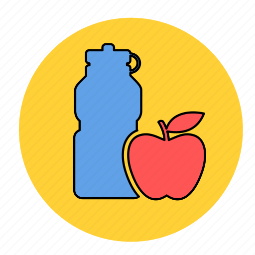 apple, bodybuilding, drink, fitness, fresh, health, line icon